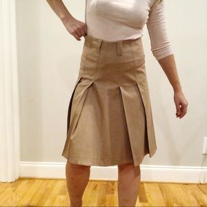 Burberry London Pleated Skirt in Honey